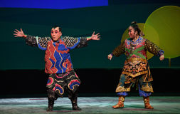 """Exaggerated threat-Peking opera """"Little Worriors of Yeuh's family"""" Royalty Free Stock Images"""