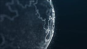 Exakt måneöversikt i futuristisk stil vektor illustrationer