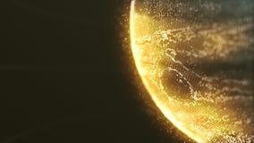 Exakt yttersida av planeten Jupiter Map i Digital stil stock illustrationer
