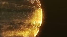 Exakt yttersida av planeten Jupiter Map i futuristisk stil vektor illustrationer