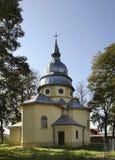 Exaltación de la iglesia cruzada santa en Dubiecko polonia Foto de archivo