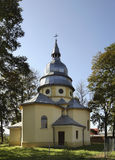 Exaltation of Holy Cross Church in Dubiecko‎. Poland Stock Photo