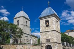 Church in Ternopil. Exaltation of Holy Cross church in Ternopil city, Ukraine Royalty Free Stock Photography