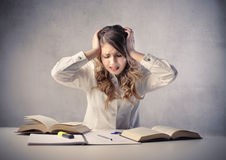 Before the exam Royalty Free Stock Images