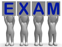 Exam Banners Means Extreme Questionnaire Or Stock Photos