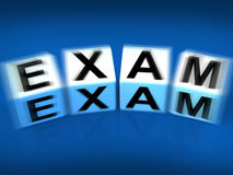Exam Blocks Displays Examination Review and Assessment Stock Photos
