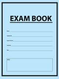 Exam Blue Book Stock Photos