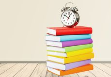 Exam. Book homework clock time stack education stock photos
