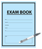 Exam Book and pen Stock Photography