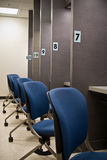 Exam cubicles 7 - 12 Stock Image