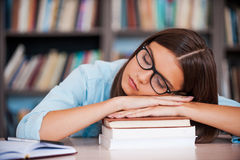 Exam exhaustion. Royalty Free Stock Photos