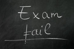 Exam fail Royalty Free Stock Photography