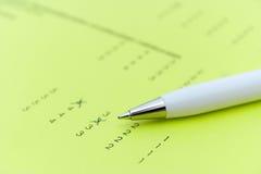 Exam or feedback form Stock Photos