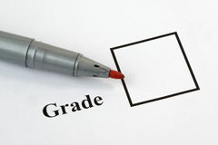 Exam Grade Stock Photography