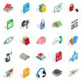 Exam icons set, isometric style Royalty Free Stock Photo