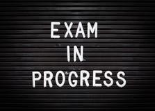 Free Exam In Progress Sign Stock Photography - 149895502