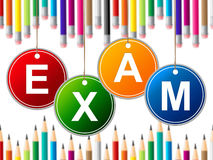 Exam Kids Means Youth Exams And Test. Exam Kids Representing Youth Child And Children Stock Image