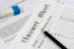 Exam paper 3. Exam sheet Royalty Free Stock Images