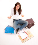Exam preparation Royalty Free Stock Photography