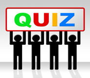 Exam Quiz Indicates Questions And Answers And Examination Stock Photos