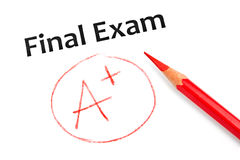 Exam result Royalty Free Stock Photo