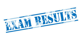 Exam results blue stamp Royalty Free Stock Photography