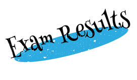 Exam Results rubber stamp. Grunge design with dust scratches. Effects can be easily removed for a clean, crisp look. Color is easily changed Royalty Free Stock Photography