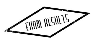 Exam Results rubber stamp. Grunge design with dust scratches. Effects can be easily removed for a clean, crisp look. Color is easily changed Stock Images