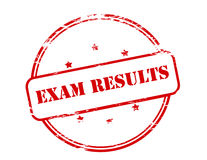 Exam results. Rubber stamp with text exam results inside,  illustration Royalty Free Stock Photos