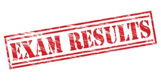 Exam results stamp. Exam results red stamp isolated on white background Royalty Free Stock Photos