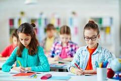 Exam at school Royalty Free Stock Photos