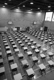 Exam Sports Hall in Black & White Stock Photography