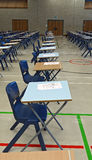 Exam tables Royalty Free Stock Image