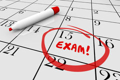 Exam Test School Final Physical Checkup Doctor Calendar. 3d Illustration Stock Image