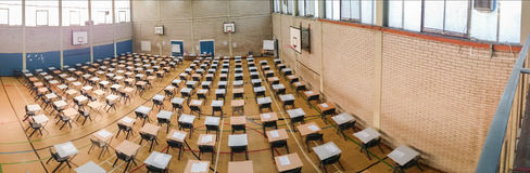 Exam time panoramic Stock Image