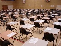 Exam time. Exam papers out ready to do royalty free stock photo