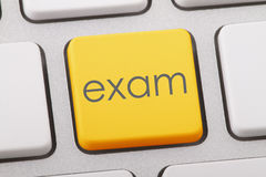 EXAM. Word written on computer keyboard Stock Images