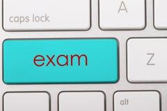 EXAM. Word written on computer keyboard Stock Image
