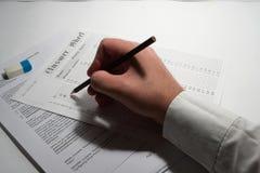 Exame 2 Foto de Stock