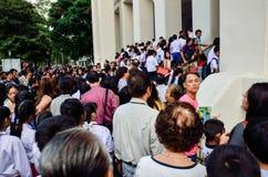 exame de entrada de espera de 4.200 estudantes Imagem de Stock Royalty Free