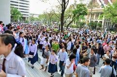 exame de entrada de espera de 4.200 estudantes Imagem de Stock