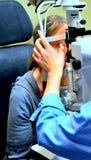 Exame de olho Fotografia de Stock Royalty Free