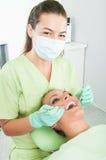 Exame dental periódico foto de stock