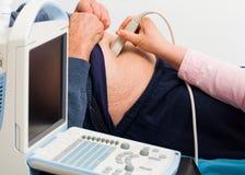 Exame do ultrassom Fotos de Stock
