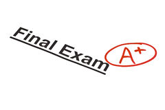 Exame final identificado por meio de A+ foto de stock royalty free