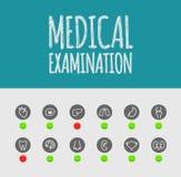 Exame médico Imagem de Stock