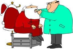 Exame médico de Santa Foto de Stock