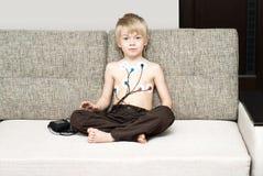 Exame médico do coração da criança Foto de Stock Royalty Free