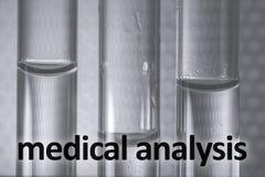 Exame médico nos tubos Foto médica da análise imagens de stock