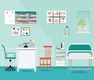 Exame médico ou verificação médica acima da sala interior ilustração royalty free